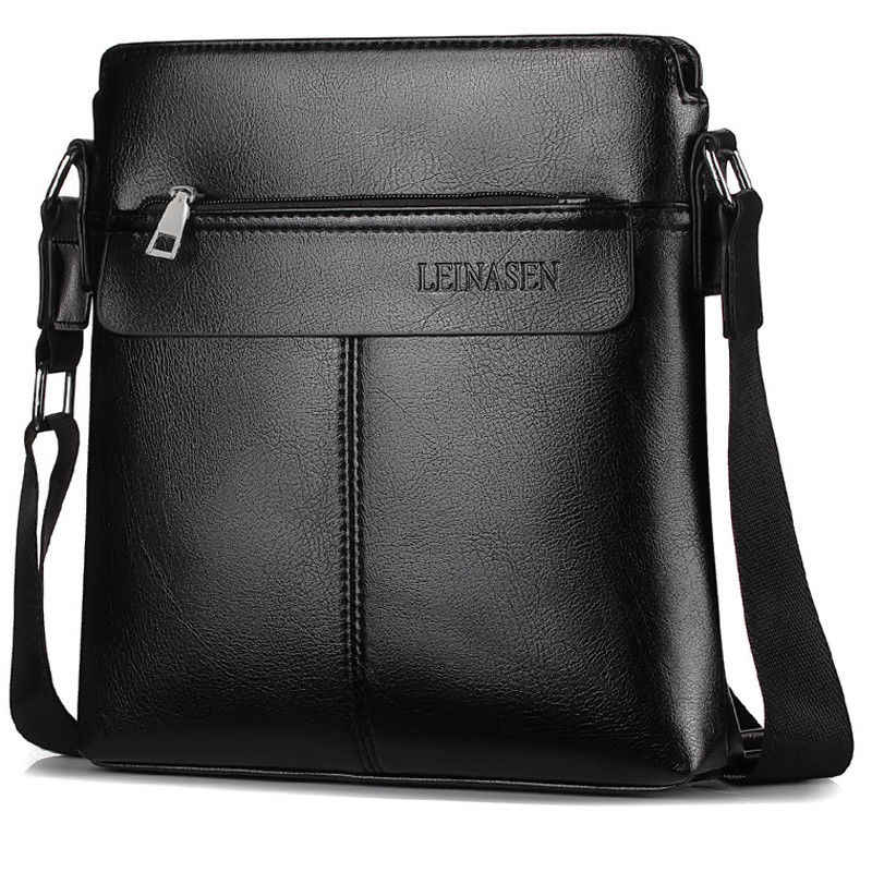 2c3905e8abf4 ... MeiHuiDa 2018 New Style Fashion Zipper Messenger Bag Casual School  Youth Faux Leather Men s Crossbody ...