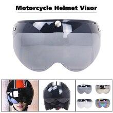 Универсальный ветрозащитный 3-оснастки Moto шлем солнцезащитные очки козырек спереди кожаный чехол из искусственной кожи(козырек ветрового стекла объектива