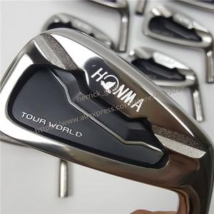 Image 2 - 골프 클럽 아이언 세트 혼마 투어 월드 TW737p 아이언 그룹 4 10 w (10 PCS) 블랙 헤드 스틸 샤프트 R / S 무료 배송