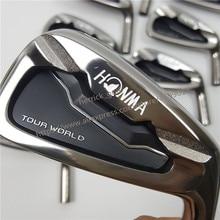 Купить с кэшбэком golf club irons set  HONMA Tour World TW737p iron group 4-10 w (10 PCS)Black head steel shaft R / S free shipping