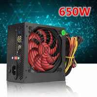 650W PC alimentación del ordenador de la PC de la computadora de la potencia de la CPU 20 + 4-pin 12cm Fans ATX 12V Molex PCIE w/SATA PCI conectar la computadora