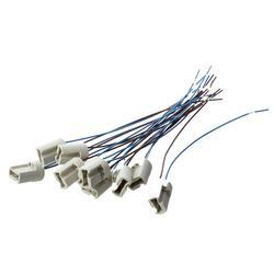 10 шт 250 V 2A G9 разъем керамический свет держатель лампы с кабельным свинца-Off-White