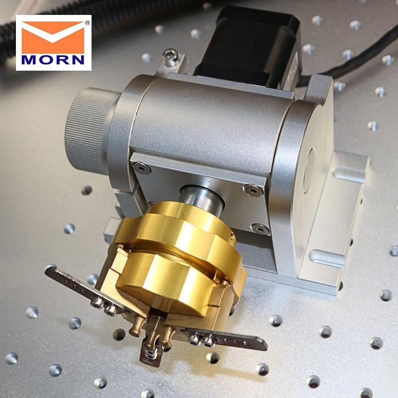 MORN Rotary Device Attachment Fiber Laser Marking Machine 110*110mm 300*300mm 20 30 50 watt Price $339.00