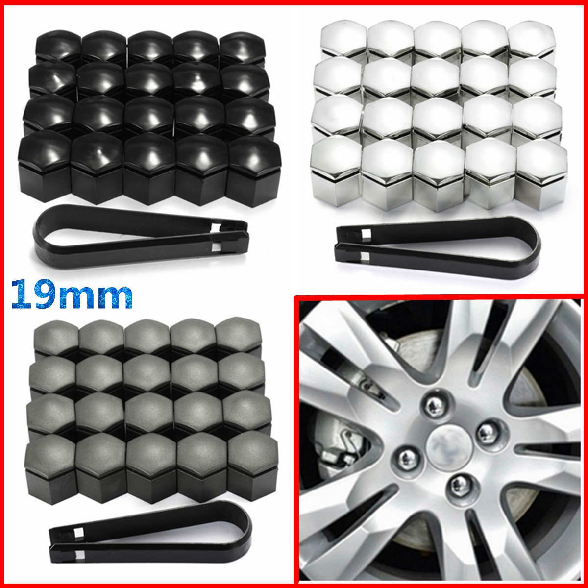PLASTIC Removal Tool for Wheel Bolt Nut Caps Covers fits VAUXHALL MOKKA