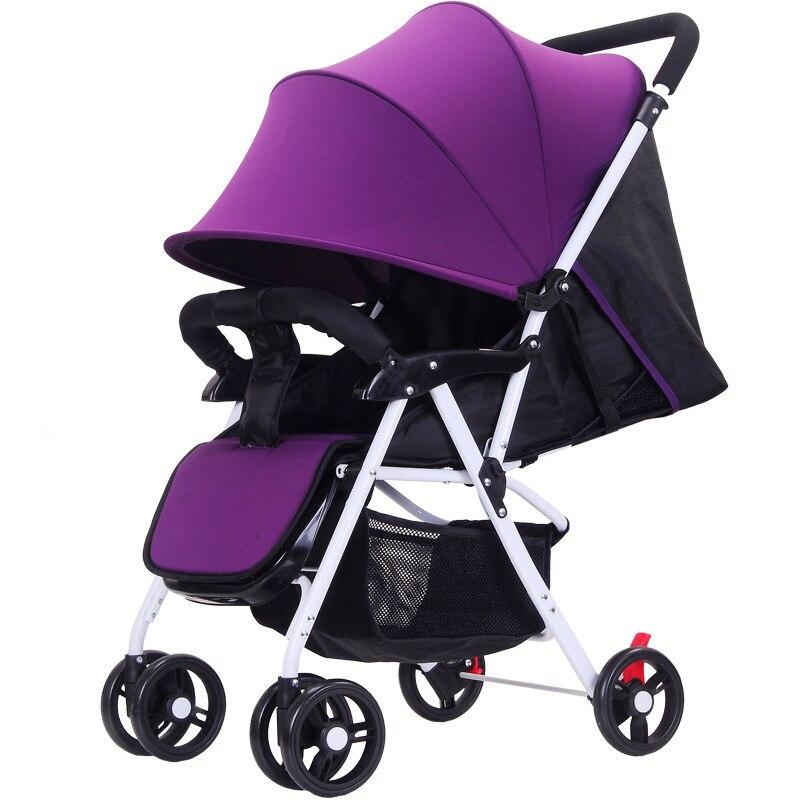 5.5 ultra-léger bébé poussette haut paysage à quatre roues chariot pliable Portable poussette voyage landau pour les nouveau-nés enfants - 5