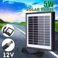 Outdoor 3 Metri di Cavo del Pannello Solare 5 W 12 V Caricatore Solare Portatile Fast Charger Polisilicio Tablet Generatore Solare per luce Della Macchina Fotografica