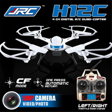 JJRC H12C 6 Axis Headless Mode 2.4G 4CH RC Quadcopter 360 Degree Rollover UFO Helicopter Professional Drone Dron 5.0MP HD Camera(China)