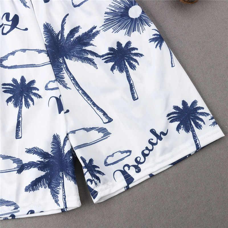 b5e596f512 ... Hot Dad And Son Swim Shorts 2019 Summer Funny Printed Beachwear  Swimwear Parent-child Swimsuit ...