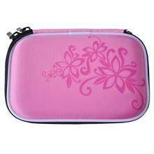 Истираемый жесткий диск Портативный диск на молнии чехол-сумка Противоударный устойчивый к царапинам 2,5 ''HDD сумка розовый