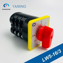 0-6 position manual electrical Rotary Switch 16A 660V 3 poles Custom Cam Changeover switches universal Silver contact LW5-16/3