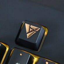 1 шт цинковый ключ из алюминиевого сплава Кепки для механической клавиатуры для наружных осветительных приборов логотип стереоскопический рельеф ключ Кепки R4 высота