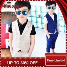 New Children Suit Baby Boys Suits Kids Blazer Boys Formal Suit For Weddings Boys Clothes Set Kids Vest+Pants 2pcs 3-9Y 2pcs new children s leisure clothing sets kids baby boy suit vest gentleman clothes for weddings formal clothing toddler boys