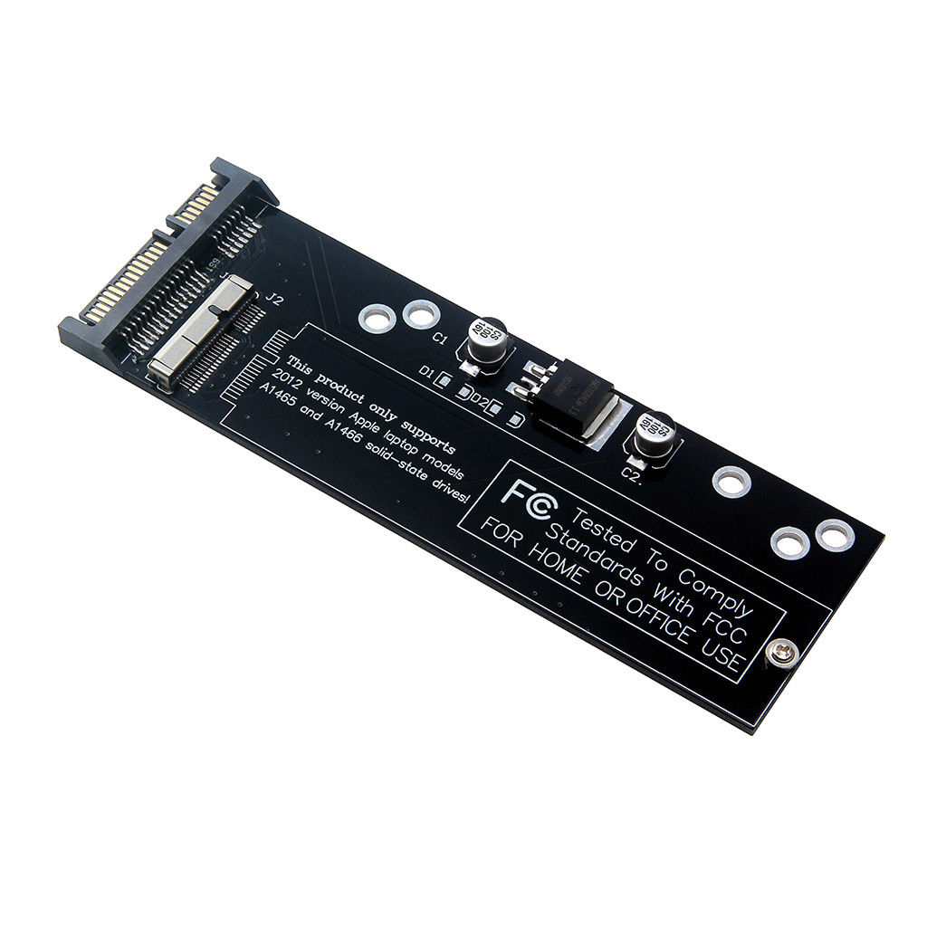 For Macbook Air A1466 A1465 A1398 A1425 Ssd To Sata Adapter Card Slot 3