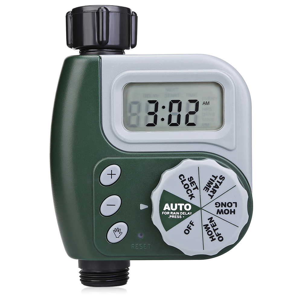 Single Outlet Hose Faucet Timer With Large Digital Display For Yard Garden Greenhouse