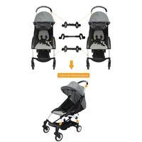 3pcs/set Baby Yoya Stroller Connector Coupler Bush Insert Into Twin Groove Stroller For Babyzen Yoyo Baby Yoya Strollers Accesso