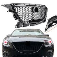 Для Mazda 3 Axela 2014 2015 2016 Передняя Верхняя решетка Honeycomb гриль черный