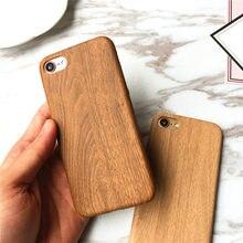 Натуральное деревянное мягкий чехол для iPhone 6 6s 6 plus 6s plus, 7, 7 plus, 8, 8 plus, X крышка кожаный TPU Деревянный чехол для делового телефона