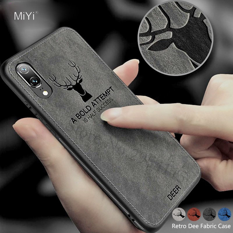 <font><b>Honor</b></font> 10 Lite <font><b>Case</b></font> Fabric Deer <font><b>Silicone</b></font> Soft Cover For <font><b>Huawei</b></font> P30 Light <font><b>Case</b></font> <font><b>Honor</b></font> 20 Pro 10 9 8 8X 8C <font><b>7X</b></font> 9i Play Coque Fundas image