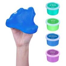 Juguete de silicona ROSENICE 4 uds, masilla elástica colorida elástica no tóxica para terapia, ejercicios de recuperación, alivio del estrés