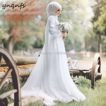 Ynqnfs mw33 vestido de noiva Дубай Кружева Аппликации хиджаб