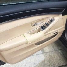 Side trái Điều Khiển Bò Da Cửa Tay Vịn Tay Cầm Bát Kéo Bảo Vệ Bìa đối với BMW X5 E70 2007 2008 2009 2010 2011 2012 2013