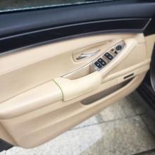 左運転席側牛革ドアアームレストハンドルボウルプル保護カバー bmw X5 E70 2007 2008 2009 2010 2011 2012 2013