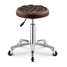 Chair Hairdressing Stool Rotate Rise And Fall Round Stool Son Skilled Worker Stool Beautiful Nail Stool Pulley Make-up Haircut