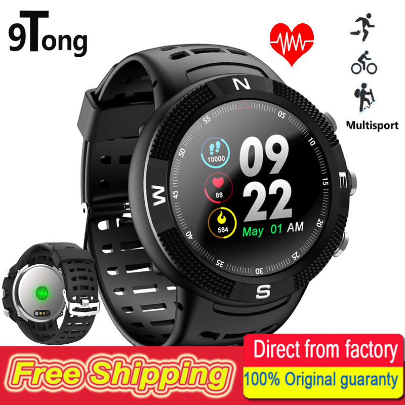 цена на 9Tong Real Waterproof IP68 Smart Watch GPS Support Swimming Compass Sport Smartwatch Call Message Reminder Pedometer Tracker