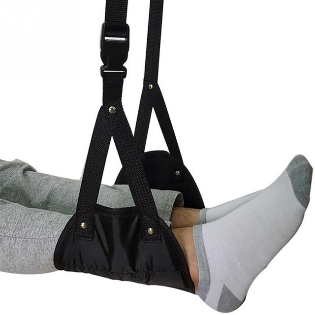 High Quality Office Portable Carry-on Foam Flight Airplane Travel Footrest Leg Hammock