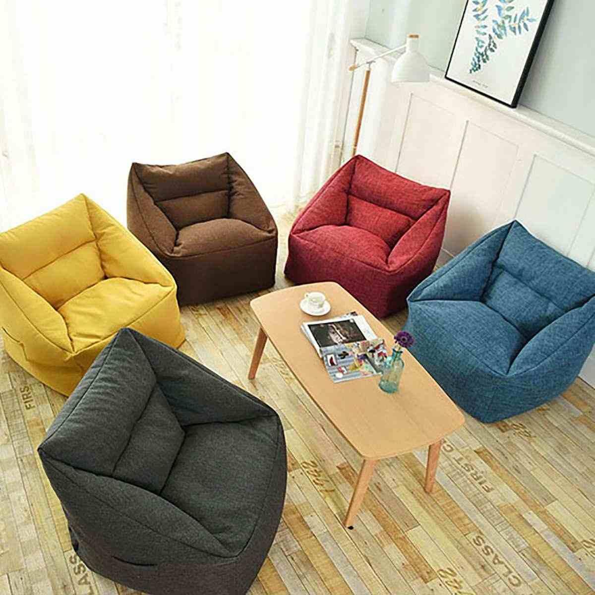 2019 непромокаемый бобовый мешок ленивый диван Крытый сиденья чехлы для стульев погремушка диваны большое Кресло-мешок кресло моющиеся уютные игры желтый