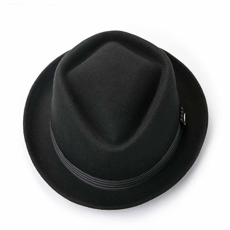 أعلى درجة هدية ل أبي الذكور الشتاء حزب الرسمي شقة أعلى الجاز قبعة الرجال الرأس الكبير زائد حجم الصوف الخالص قبعة 56-58 سنتيمتر 58-60 سنتيمتر