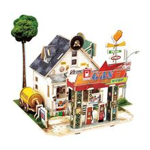 3D DIY Puzzle Castle Model Cartoon House Assembling Paper Toy Kid Early Learning Construction Pattern Gift Children House Puzzle(China)
