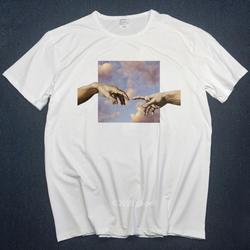 Микеланджело футболки Для мужчин футболки веселое Harajuku Мужская футболка с рисунком хип-хоп 100% Хлопок Уличная футболка рубашка Футболки