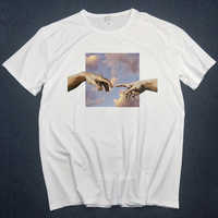 Camisetas de Michael Angel camisetas de hombre Harajuku divertida camiseta estampada hombres Hip Hop 100% algodón Streetwear camiseta Homme camisetas s-3L