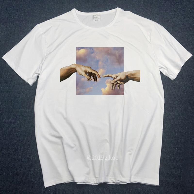 MICHELANGELO   t  -  shirts   men   t     shirts   Harajuku Funny Print Tshirt Men Hip Hop 100% Cotton Streetwear Tee   Shirt   Homme Tops tees s-3L