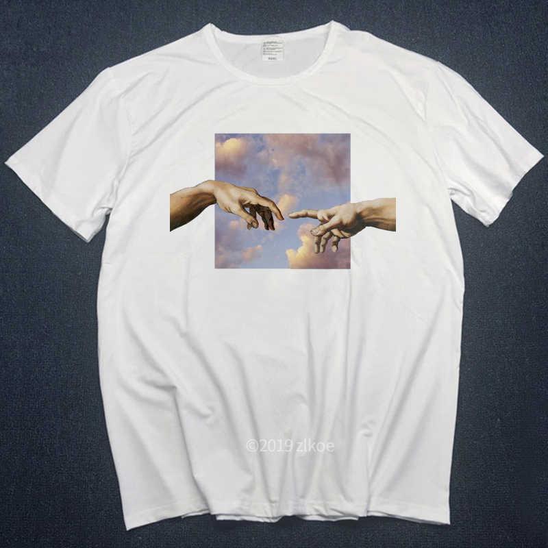 Michelangelo Áo Thun Nam Áo Thun Nữ Bông Tai Kẹp Hình In Ngộ Nghĩnh In Nam Hip Hop 100% Cotton DạO Phố Áo Thun Homme Áo Tee s-3L