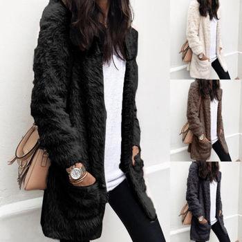 Women Warm Coat Cardigan Ladies Winter Thick Overcoat Jacket Outwear 1