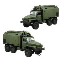 High Quality WPL B36 Ural 1/16 2.4G 6WD Rc Car Military Truck Rock Crawler Communication Vehicle RTR Toy Green