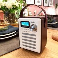 Multifunctional Bluetooth Speaker Retro Radio Digital FM Portable WiFi Internet Radio Alarm Clock Wooden Box Universal Player