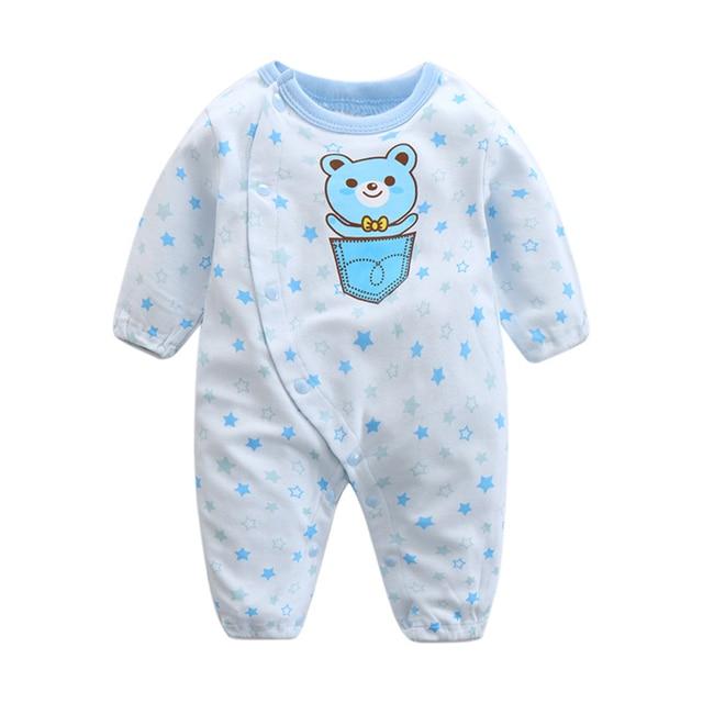 Infant Baby Boys Girls Cotton Long Sleeve Cartoon Print