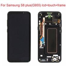 JPFIX Super AMOLED ЖК-дисплей для Samsung Galaxy S8 Plus G955F дисплей с сенсорным экраном дигитайзер в сборе с рамкой