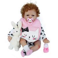 53cm Reborn Dolls Simulation Dolls Silicone Simulation Baby Cloth Toy for Children Girl Education Supplies