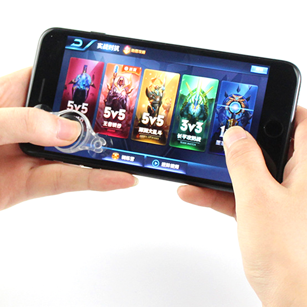 Mobile Phone Physical Joystick Fling Game Joystick For IPhone For Samsung  Phones Soft Sucker Gamepad Controls Joy Stick