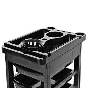 Image 4 - Carro de almacenamiento con 5 cajones para el pelo, instrumento de salón, altura ajustable, herramientas de belleza