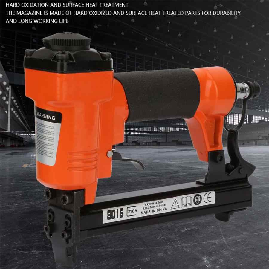Pneumatische U Type Nail Gun Straight Nail Air Pneumatische Tackers Nietmachine Nietpistool 21GA 0.95*0.65mm Power Tool