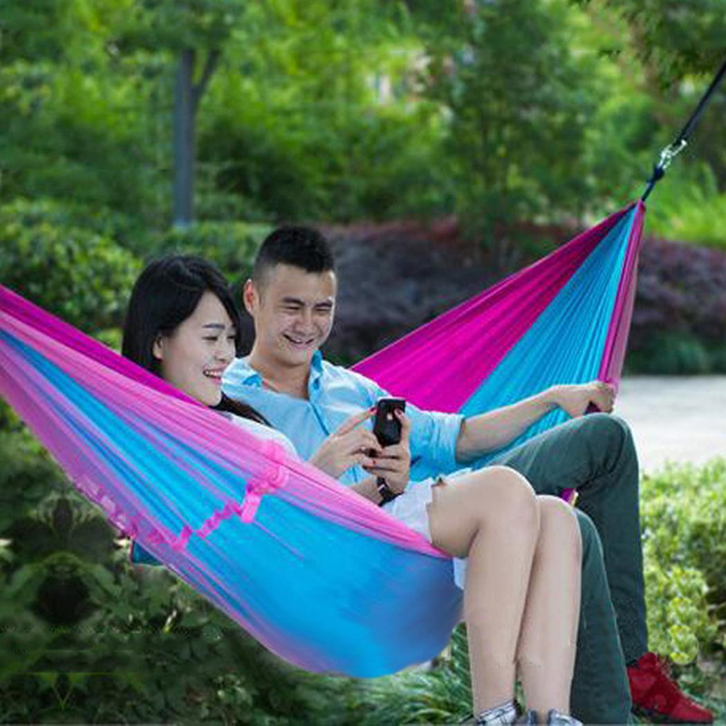 1-2 Person Portable Outdoor Camping Hammock with Mosquito Net High Strength Parachute Fabric Large Hanging Bed Sleeping Swing1-2 Person Portable Outdoor Camping Hammock with Mosquito Net High Strength Parachute Fabric Large Hanging Bed Sleeping Swing
