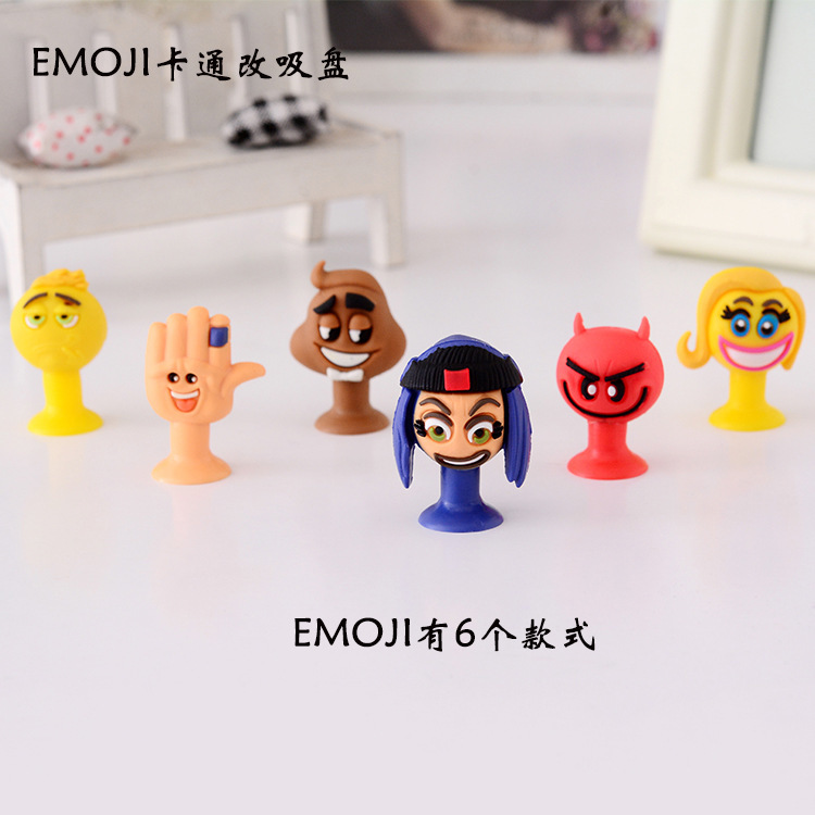 6PCS Force Pvc Doll Sucker Emoji Expression Will Film Doll Goods Of Furniture For Display Rather Than For Use Toys Book System