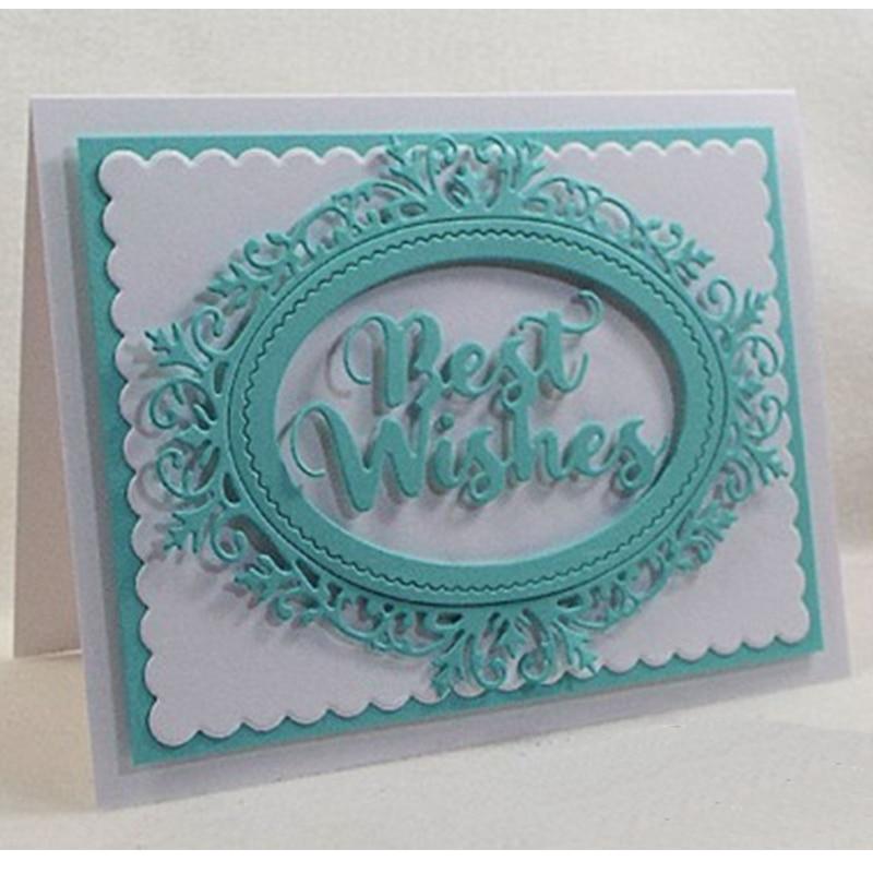 Best wishes metal stencil Stencils DIY Scrapbooking album 2019 Paper cards craft decoration embossing word dies