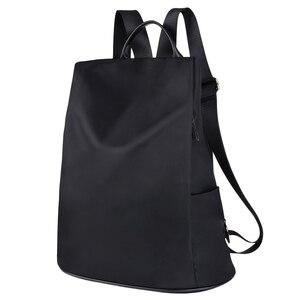 Image 1 - Coofit Tasarımcı Bayan Marka Sırt Çantası Moda Naylon Su Geçirmez Anti Hırsızlık kadın Çantası mochila escolar okul sırt çantası