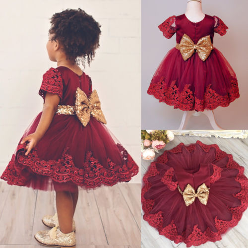 Flower Kids Newborn Infant Baby Girl Princess Bridesmaid Petal Tulle Party Formal Dress Dresses Outfits Girls Clothing 2018 New